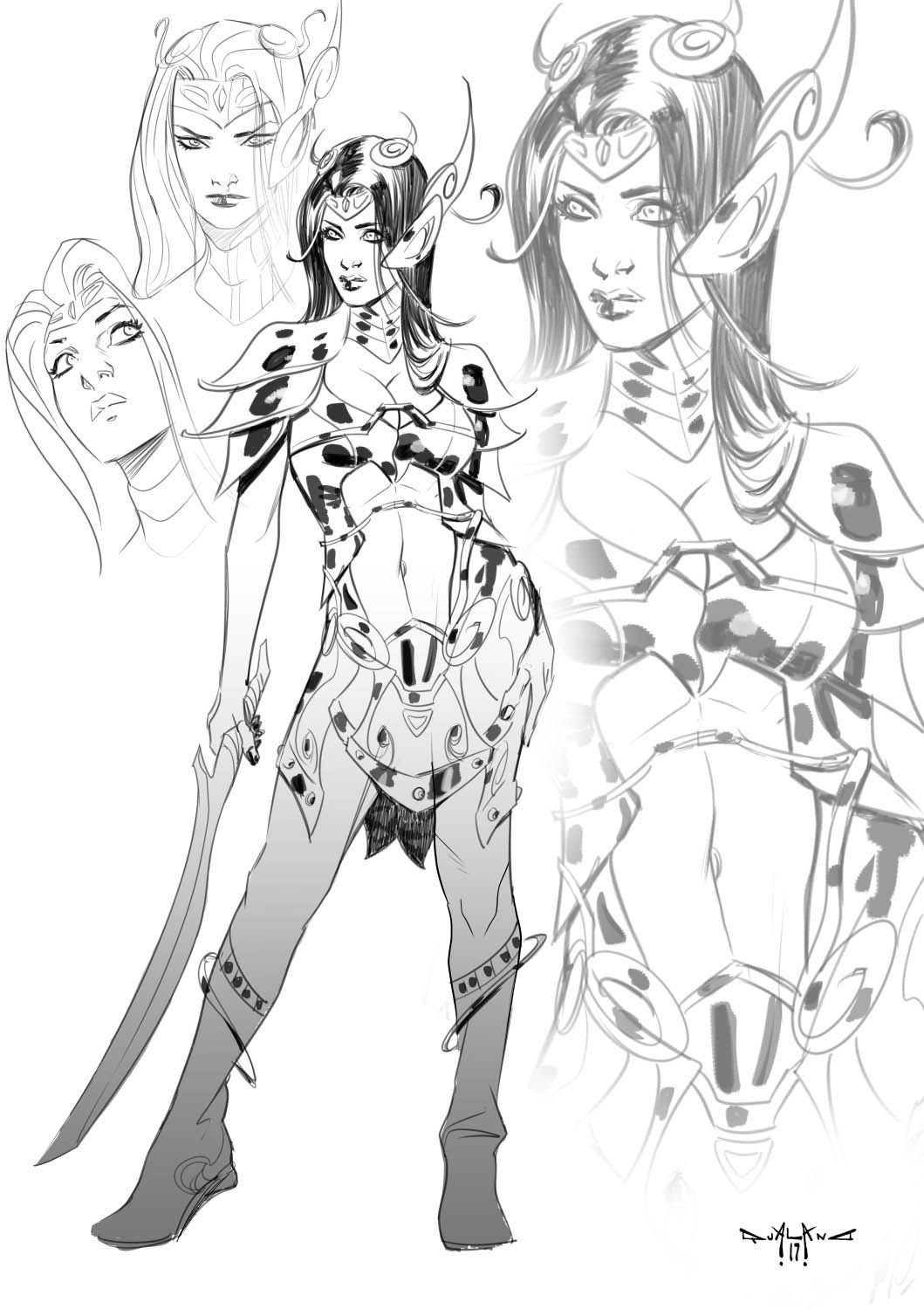 pasquale-qualano-portfolio-covers-Dejah-Thoris-Sketch-A---