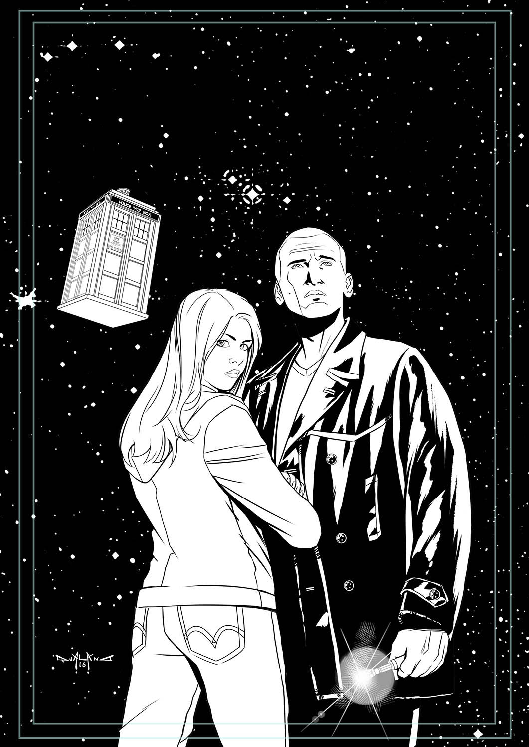 pasquale-qualano-portfolio-covers-Doctor-Who-9th-Doctor-#9-Inks---